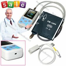 PM50 24Hours Ambulatory Blood Pressure NIBP Spo2 Pr USB Patient Monitor+Software