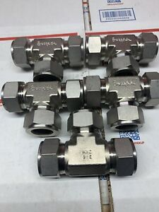"""New Lot Of Swagelok SS-1610-3 , 1"""" Tee Stainless steel Several Available"""