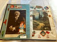 Vintage Scrapbook, Nicest I've Seen, 100 Pages, 450 Inserts 1927- 1930's-  Clean