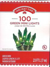 GREEN MINI LIGHTS *100 CT* ST PATRICK'S DAY /  HOLIDAYS / PARTIES ~ 23 FT ~ NEW