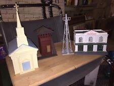 Model Train Church Union Station Oil Derrick Watch Tower K-Line Plasticville