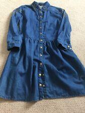 Womans Topshop Denim Studded Dress Size 8