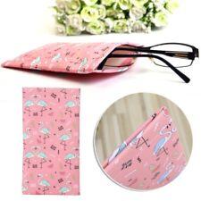 Glasses Bag Faux Leather Flamingo Sunglasses Goggle Protector Portable Soft Case