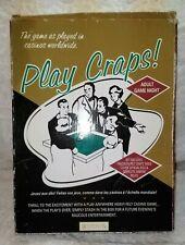 PLAY CRAPS.RESTORATION HARDWARE.VINTAGE FELT CRAPS TABLE COVER,DICE,RULES.EXCOND