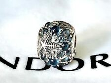 New Authentic  Pandora silver bead charm Oceanic Starfish Frosty Mint 791905