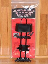 Alpine SL2 Soft Loc 5 Arrow Bow Quiver- Mathews,Hoyt, Bowtech, Elite- Black