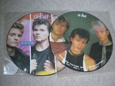 """A-HA 12"""" INTERVIEW PICTURE DISC/12"""" YOU ARE THE ONE PICTURE DISC"""