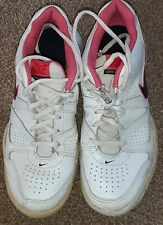 NIKE City Court TENNIS TRAINERS SHOES Size 5.5 UK White Pink Blue 488327-103