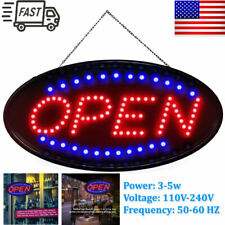 "Ultra Bright Large Size Flash Motion 19""x 10"" Led Neon Open Business Sign Light"