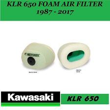Kawasaki KLR 650  1987 - 2017 MOTOREX FOAM AIR FILTER