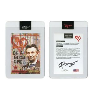 ABRAHAM LINCOLN President Rency Pop Art DIAMOND DUST Trading Card Signed S/N 300
