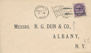 CANADA 1899 COVER STAMPED WITH 2c QUEEN VICTORIA #76, FLAG CANCELLATION !! D75