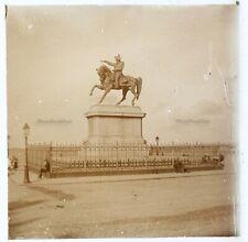 Cherbourg Satue Napoléon France Photo Stereo PL58L1n Plaque de verre 1924