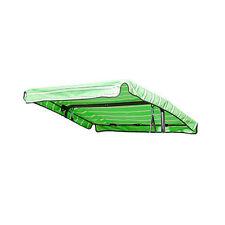 Amache in tessuto verde per l'arredamento da esterno