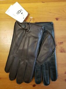 * NWB * UGG mens Metisse Leather & Faux Fur Tech Gloves Brown XL