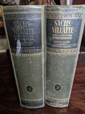 Alte Bücher Sachs-Villatte Enzyklopädisches Wörterbuch Handausgabe...