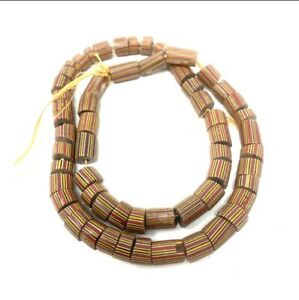 Antique Venetian Draw Stripes  African Glass Trade Beads / Necklace