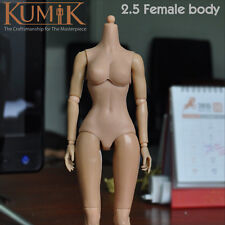 Kumik 1/6 Female/Girl Nude Muscular action figure Body CY Pale V2.5 + hands feet