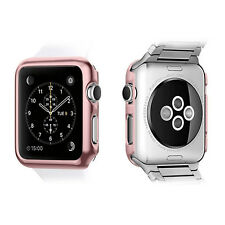 For Watch 38/42mm Slim Full Body Cover Snap On Metal Cover Case Screen Protector