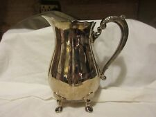 "Lunt Silverplate Footed Pitcher, Stamped B-140, 9"" Tall"