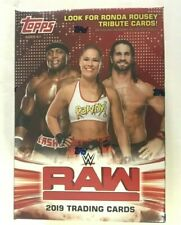 2019 TOPPS WWE RAW BLASTER  BOX ( ONE RELIC CARD )