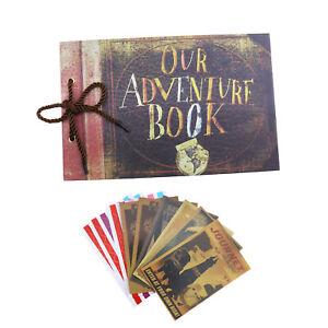 1er Fotoalbum 80 Seiten Our Adventure Book DIY Scrapbook Geburtstag Jahrestag
