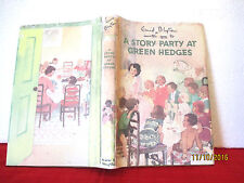 Enid Blyton A STORY PARTY AT GREEN HEDGES 1956 HC COPY JACKET illus Grace Lodge