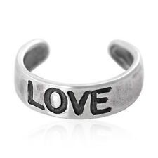 rings- Set Of 2 Love sterling silver toe