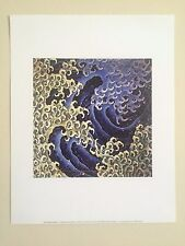 "KATUSHIKA HOKUSAI ORIGINAL LITHOGRAPH FINE ART PRINT "" MASCULINE WAVE "" 1831"