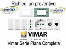 Presa interruttore pulsante placca Vimar plana 14203 14000  stock vimar plana