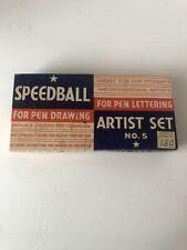 Vintage Speedball No. 5 Artist Set, Ballpoint Pens, Nibs, Writing, Art