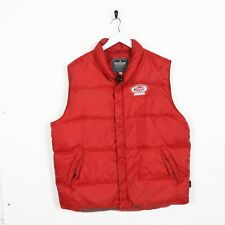 Vintage DIADORA Zip Up Sleeveless Padded Bomber Jacket Coat Red | 2XL