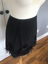 Black Feather Skirt. New UK 18