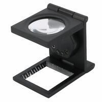 Folding Magnifier Illuminated Magnifying Glass Loupe Lens 10X w LED Light