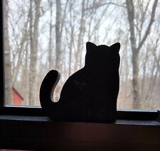 "Cat's Meow Village Casper Mascot 3.5"" Black Cat Silhouette Wood Reversible"