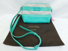 AUTHENTIC KATE SPADE NEW YORK PURSE TEAL GREEN STRIPE ORIGINAL POUCH
