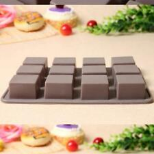 Square Chocolate Mold Bar Block Ice Silicone Cake Candy Sugar Bake Mould D3