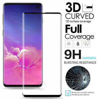 For Samsung Galaxy S10 Plus S10e 3D Curved Tempered Glass Film Screen Protector