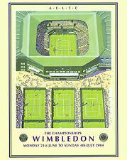 2004 Wimbledon Tennis Tournament  Ad Poster, 8x10 Color Photo