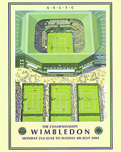 2004 Wimbledon Tennis Tournament  Ad Poster, 8x10 Color Photo