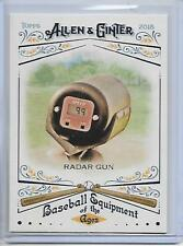 2018 Topps Allen & Ginter Radar Gun Baseball Equipment Of The Ages