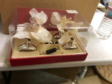 New listing Fabulous Hans Turnwald set of 12 (3 sets) White Orchid Napkin Rings