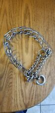 "Dog Training Choke Chain Collar Adjustable Metal Steel Prong Pinch 4.0m 16""-22"""
