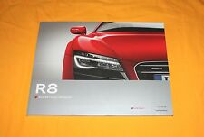 Audi r8 2012 (English) prospectus brochure depliant catalogue Prospetto prospecto
