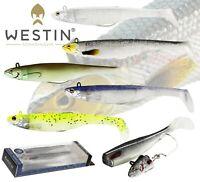 Westin Fishing Lures Weedless MAGIC MINNOW Bass Sandeel Soft Plastic Paddle Tail