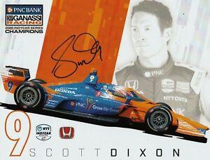 2021 SCOTT DIXON SIGNED INDIANAPOLIS INDY 500 CAR PROMO CARD