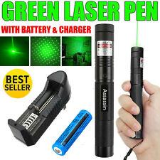 1mW 990Miles Green Laser Pointer Pen 532nm Visible Beam Light 18650Batt+Charger