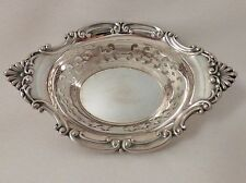 """Gorham Strasbourg Pierced Sterling Nut Cup A4780 - 3 3/4"""" AS IS"""