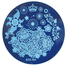 Nail Stamping Plates Nail Art Flowers Animals Image Stencils Templates DIY Tool