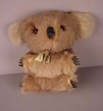 Vintage Koala Bear Stuffed toy with real fur  Australia souvenir Koalas